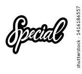 special   hand sketched word... | Shutterstock .eps vector #1416186557