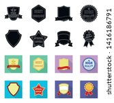 isolated object of emblem and... | Shutterstock .eps vector #1416186791