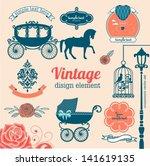 set of wedding design... | Shutterstock .eps vector #141619135