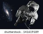 the astronaut  in outer space... | Shutterstock . vector #141619189
