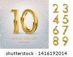 10th anniversary celebrating... | Shutterstock .eps vector #1416192014