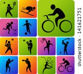 set of sports icons  basketball ... | Shutterstock .eps vector #141621751