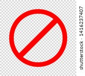 prohibiting sign. icon with red ... | Shutterstock .eps vector #1416237407