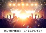 band performance in a concert... | Shutterstock . vector #1416247697