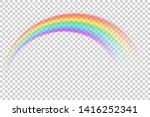 colorful transparent rainbow... | Shutterstock .eps vector #1416252341