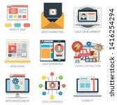website map  user experience ... | Shutterstock .eps vector #1416254294