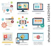 software development  seo... | Shutterstock .eps vector #1416254354