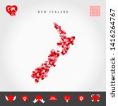 i love new zealand. red and... | Shutterstock .eps vector #1416264767