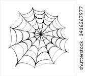 spider web icon design vector...   Shutterstock .eps vector #1416267977