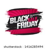 black friday sale banner layout ... | Shutterstock .eps vector #1416285494