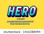 comics super hero style font ... | Shutterstock .eps vector #1416288494