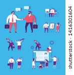 business team vector set.  ... | Shutterstock .eps vector #1416301604