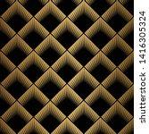 art deco pattern. seamless...   Shutterstock .eps vector #1416305324