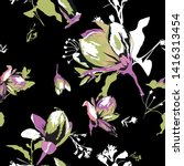 floral seamless pattern with... | Shutterstock .eps vector #1416313454