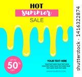 hot summer sale. melting ice... | Shutterstock .eps vector #1416322874