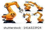 automated orange robotic arms... | Shutterstock .eps vector #1416323924