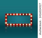 retro rectangular banner sign... | Shutterstock .eps vector #1416324527