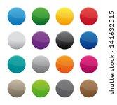 blank round buttons | Shutterstock .eps vector #141632515