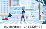 young adorable woman in...   Shutterstock .eps vector #1416329474