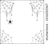 halloween spiderweb corner... | Shutterstock .eps vector #1416332567