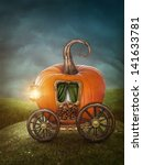 Pumpkin Carriage On The Meadow