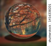 Glass Ball With Tree And Fores...