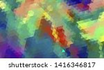 geometric design. colorful... | Shutterstock .eps vector #1416346817