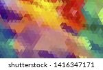 geometric design. colorful... | Shutterstock .eps vector #1416347171