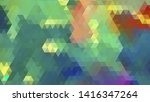 geometric design. colorful... | Shutterstock .eps vector #1416347264