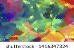 geometric design. colorful... | Shutterstock .eps vector #1416347324