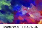 geometric design. colorful... | Shutterstock .eps vector #1416347387
