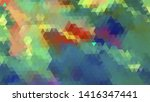 geometric design. colorful... | Shutterstock .eps vector #1416347441