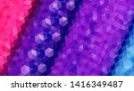 geometric design. colorful... | Shutterstock .eps vector #1416349487