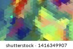 geometric design. colorful... | Shutterstock .eps vector #1416349907