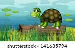 Illustration Of A Turtle Above...