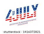 4th of july usa flag style font ... | Shutterstock .eps vector #1416372821