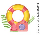 camera photographic with float...   Shutterstock .eps vector #1416374294