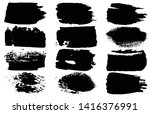 collection of vector grunge... | Shutterstock .eps vector #1416376991