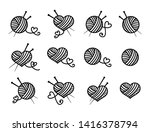 knitting  beautiful vector icon ... | Shutterstock .eps vector #1416378794