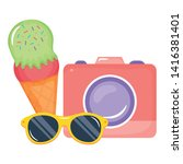 camera photographic with ice...   Shutterstock .eps vector #1416381401