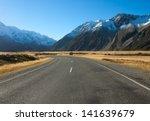 road in mount cook national... | Shutterstock . vector #141639679
