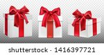 gift or present boxes with red... | Shutterstock .eps vector #1416397721