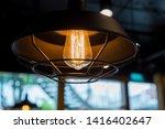 incandescent lighting bulb with ... | Shutterstock . vector #1416402647