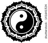 yin yang lotus  chinese symbol... | Shutterstock .eps vector #141641524