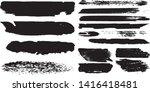 set of vector grunge brushes in ...   Shutterstock .eps vector #1416418481