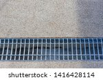 close up grille drain of sewer... | Shutterstock . vector #1416428114