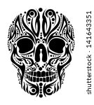 tattoo tribal skull vector art | Shutterstock .eps vector #141643351