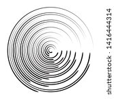 radial speed lines in circle... | Shutterstock .eps vector #1416444314