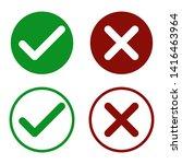 accept  decline button. flat... | Shutterstock .eps vector #1416463964