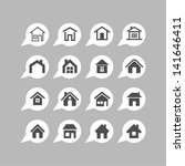home design icons   Shutterstock .eps vector #141646411